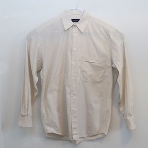 Canali White Point Collar Dress Shirt